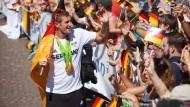 Begeisterter Empfang für das deutsche Olympia-Team