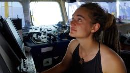 Carola Rackete auf dem Weg nach Deutschland