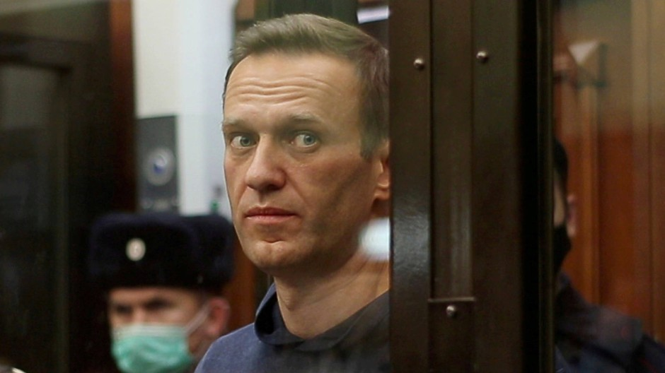 Alexej Nawalnyj bei einer Gerichtsverhandlung am 2. Februar in Moskau
