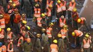 Hunderte Mitglieder einer Spezialeinheit der Armee waren am Dienstag noch im Einsatz.