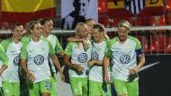 Wolfsburgs Fußball-Frauen im Champions League Halbfinale