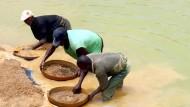 Auf der Suche nach Afrikas Schätzen: Diamantenschürfer in Sierra Leone