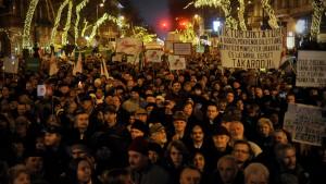 Proteste gegen neue Verfassung