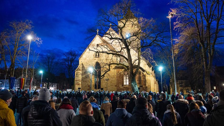 Gemeinsamer Gottestdienst vor der St. Marien Kirche in Volkmarsen