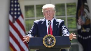 Trump verkündet Amerikas Rückzug aus Klimaabkommen
