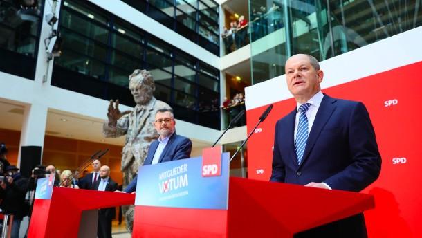 SPD-Mitglieder stimmen für große Koalition