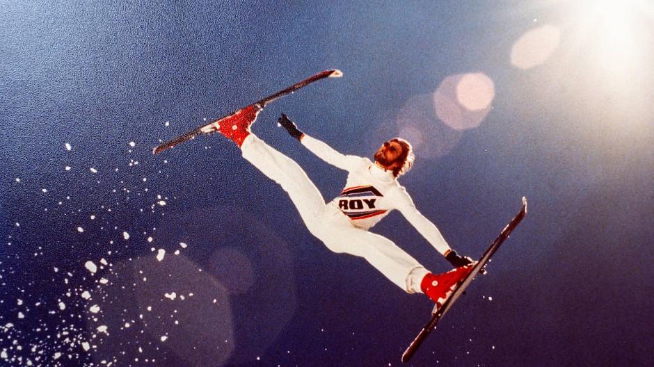 Luftnummer: Hans-Joachim Schiemenz 1978 in den Alpen bei Kaprun.