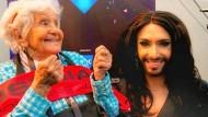 ESC-Gewinnerin Conchita Wurst und ihr ältester Fan Oma Ella
