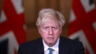 Der britische Premierminister Boris Johnson am Dienstag