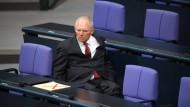 Wolfgang Schäuble (CDU) am Donnerstag im Bundestag