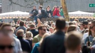 Großer Andrang: Tausende besuchten den Auftakt des Marktfrühstücks