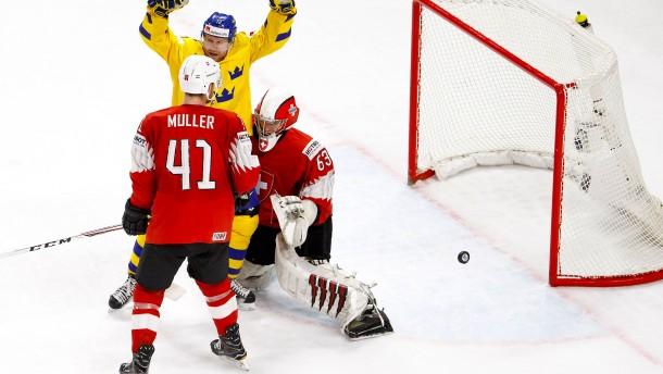 Schweden stoppt die Schweiz erst im Penaltyschießen