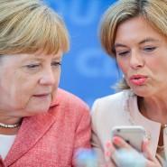 Merkel und Klöckner im August bei einer Sitzung des CDU-Vorstandes.