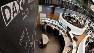 Der Aktien-Handelssaal in Frankfurt.