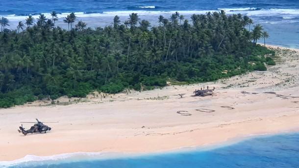 Vermisste Seemänner von unbewohnter Insel gerettet