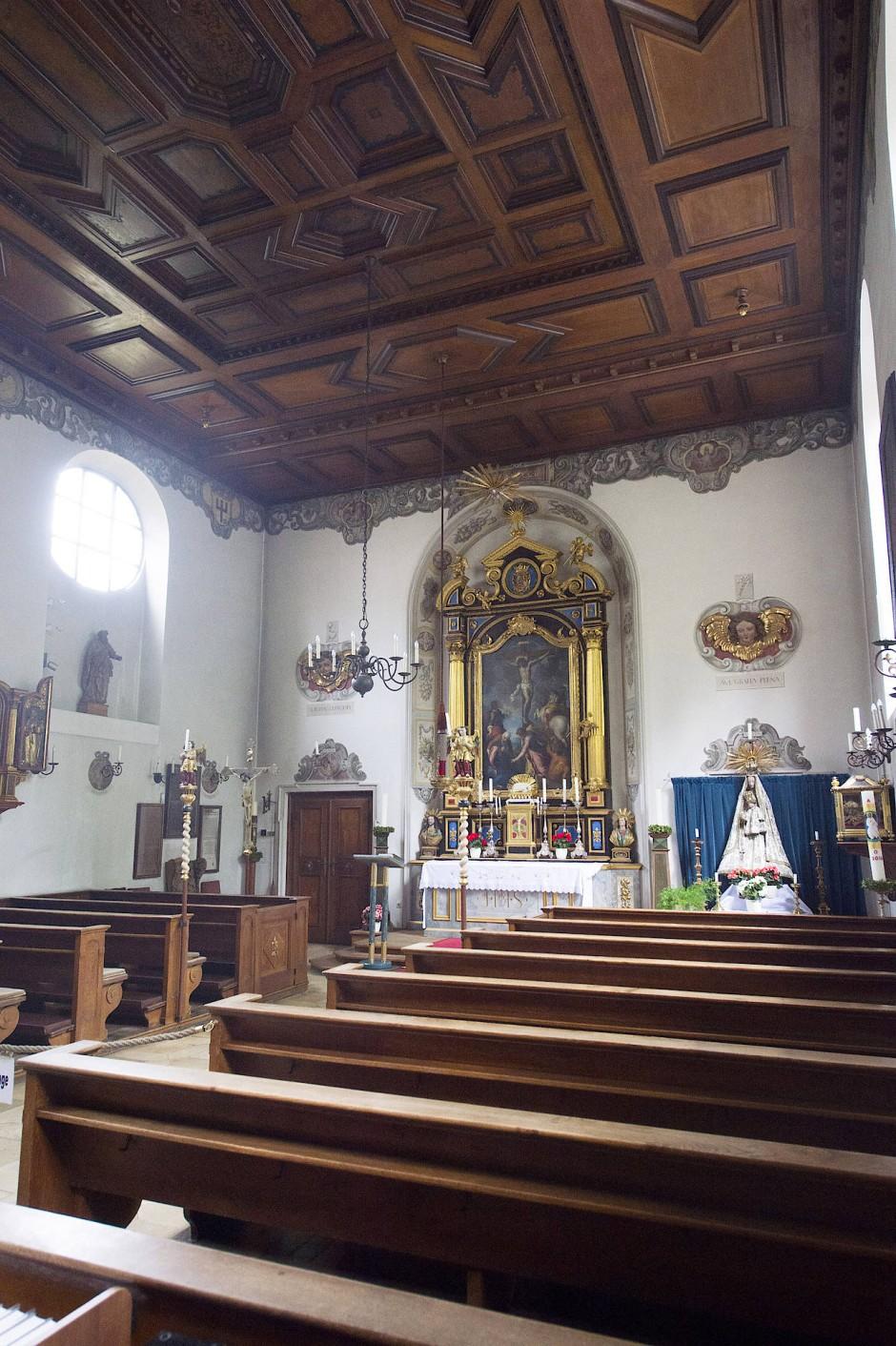In St. Markus versammeln sich die Bewohner der Fuggerei zum Gottesdienst.