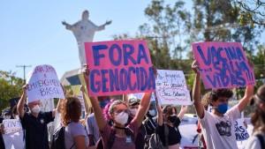 Wut über 500.000 Tote treibt Brasilianer auf die Straße
