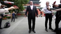 Wirtschaftsminister Altmaier trifft in China Huawei-Führung