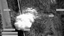 Aufnahme der Luftangriffe gegen die Terrormiliz Islamischer Staat.
