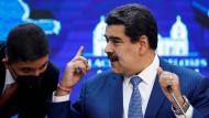 Venezuelas Machthaber Nicolás Maduro Mitte August in Caracas.