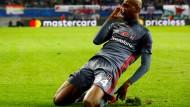 Istanbuls Anderson Talisca feiert seinen Treffer gegen Leipzig im Champions League Gruppenspiel