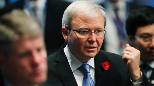 Außenminister Rudd tritt nach Machtkampf zurück