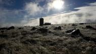 So weit sieht man hier selten: Die Wetterwarte auf dem Gipfel des Brockens.
