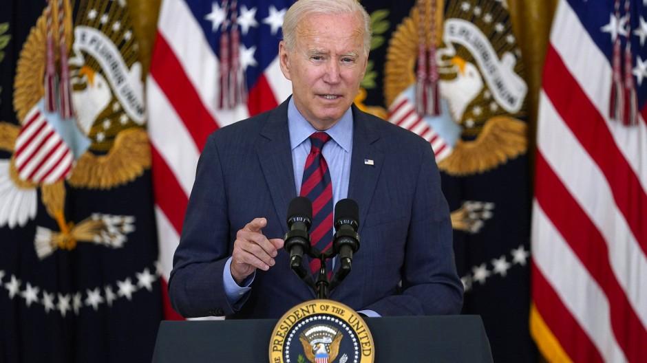 Der amerikanische Präsident Joe Biden am Dienstag im Weißen Haus
