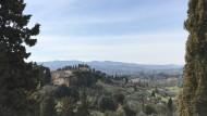 """Der Blick aus dem Fenster der Villa """"Il Gioiello"""", in der Galileo Galilei seine letzten Lebensjahre verbrachte, hat sich seit Jahrhunderten wenig verändert."""