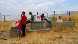 Tote werden in der Türkei für Stausee umgebettet