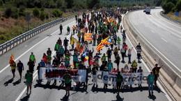 Sternmarsch in Richtung Barcelona