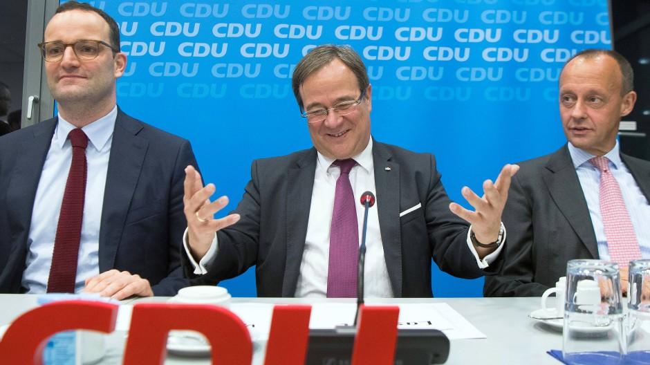 Wer führt künftig die CDU? Einer dieser drei Herren, Jens Spahn, Armin Laschet oder Friedrich Merz? (v.l.)