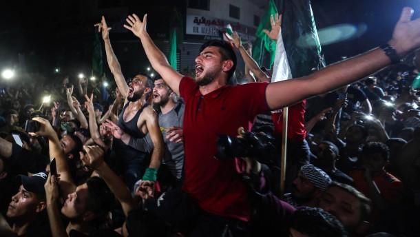 Freude im Gazastreifen über Waffenruhe