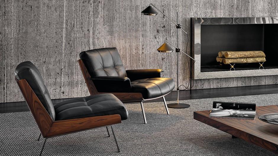 Der Brasilianer Marcio Kogan hat schon zum zweiten Mal für die italienische Marke Minotti ein Möbelstück entworfen, den Schalensessel Daiki.