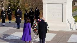Kranzniederlegung am Nationalfriedhof Arlington