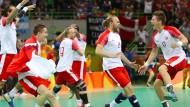 Erstes Gold für Dänemarks Handballer