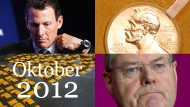 Sandy wütet, Armstrong scheitert, Steinbrück kassiert