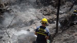 Waldbrand vorerst unter Kontrolle