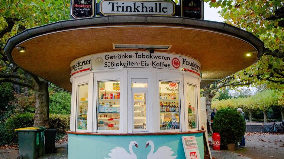 Der Kiosk Limes in Frankfurt Bockenheim wird von seinem Besitzer liebevoll gepflegt.