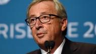 Juncker scheitert bei G20 mit mehr Steuertransparenz