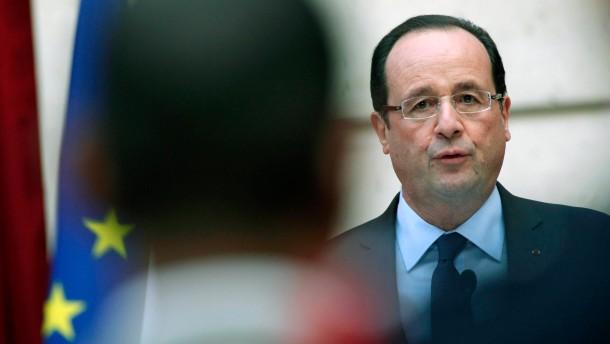 François Hollande verdeckt