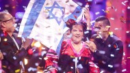 Strahlend gewonnen: Sängerin Netta beim 63. ESC-Finale in Lissabon im Mai