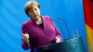 Angela Merkel am Donnerstag in Berlin.