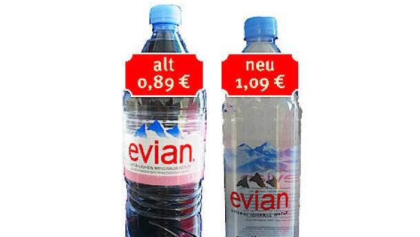 """Evian ist """"Mogelpackung des Jahres"""""""