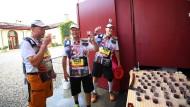 Trinkmarathon: Anders als im französischen Médoc müssen die Teilnehmer in Mainz nicht 42 Kilometer laufen, sondern nur an 42 Stationen Wein probieren.