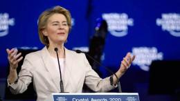 Ursula von der Leyen spricht jetzt auf dem Weltwirtschaftsforum