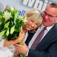 Anfang August gratulierte Boris Pistorius Parteikollegin Doris Schröder-Köpf bei einer Kinderbuchvorstellung zum Geburtstag.