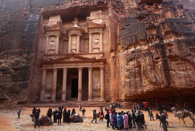 Die Stadt Petra vor den Überflutungen