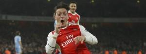 Raus mit der Freude: Mesut Özil trifft für Arsenal