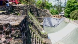 Tempel-Ruine durch Erdbeben entdeckt